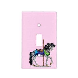 Cubierta de interruptor del caballo del carrusel placas para interruptor