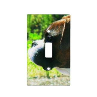 Cubierta de interruptor del perro del boxeador cubierta para interruptor