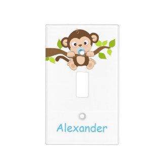Cubierta de interruptor linda del mono del bebé placa para interruptor