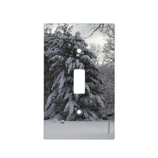 Cubierta de interruptor nevada del árbol de pino cubiertas para interruptor