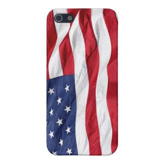 Cubierta de Iphone 4 de la bandera de América iPhone 5 Protectores