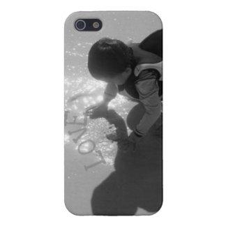 Cubierta de Iphone 5 de la arena del amor del bebé iPhone 5 Carcasas