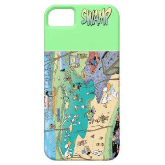 Cubierta de Iphone del mapa del pantano Funda Para iPhone 5 Barely There