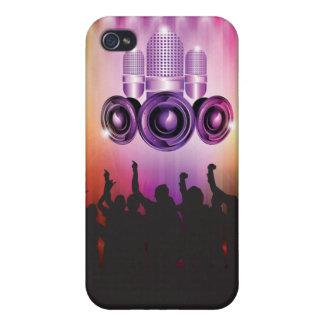 Cubierta de Iphone del tiempo de la música iPhone 4 Funda