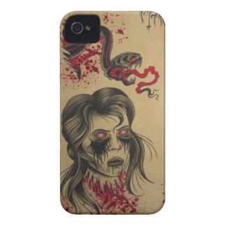 Cubierta de IPOD del zombi y de la serpiente de iPhone 4 Case-Mate Carcasas