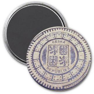 Cubierta de la alcantarilla del escudo de armas de imán redondo 7 cm