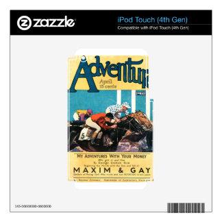 Cubierta de la aventura skins para iPod touch 4G