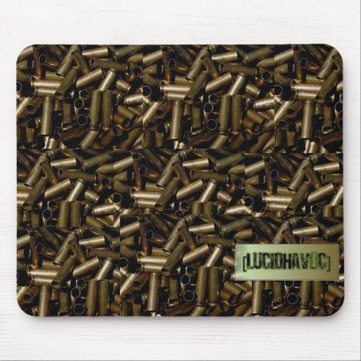 Cubierta de la bala con el cojín de ratón del logo tapetes de raton