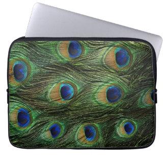 Cubierta de la caja de la pluma del pavo real mangas portátiles