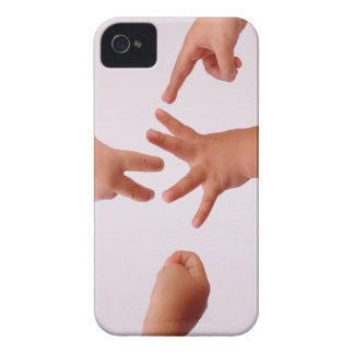 Cubierta de la caja de las Roca-Papel-Tijeras Case-Mate iPhone 4 Coberturas