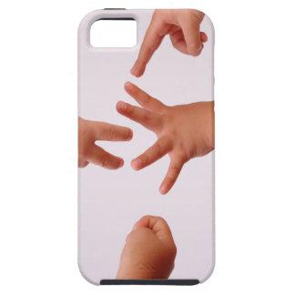 Cubierta de la caja de las Roca-Papel-Tijeras Funda Para iPhone 5 Tough