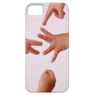 Cubierta de la caja de las Roca-Papel-Tijeras iPhone 5 Carcasa