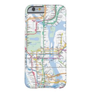 Cubierta de la caja de mapa de la ciudad funda de iPhone 6 barely there