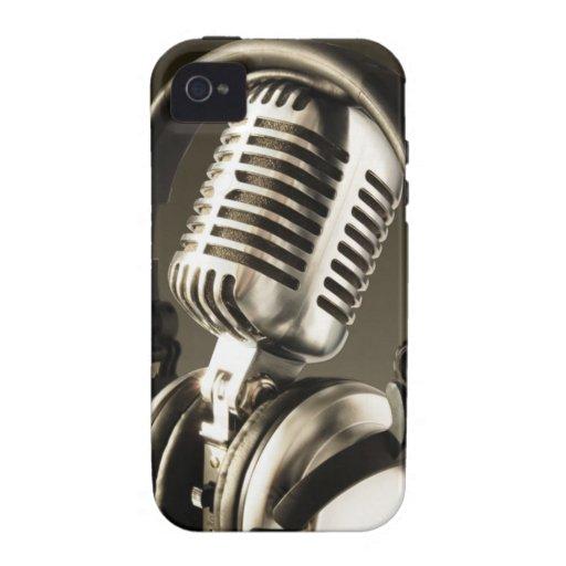 Cubierta de la caja del micrófono y del auricular Case-Mate iPhone 4 fundas
