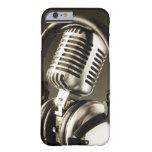 Cubierta de la caja del micrófono y del auricular funda de iPhone 6 barely there
