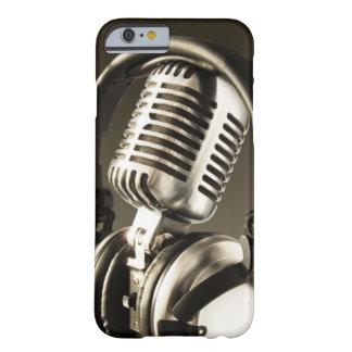 Cubierta de la caja del micrófono y del auricular funda para iPhone 6 barely there
