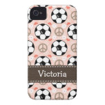 Cubierta de la casamata 4s del iPhone 4 del fútbol Case-Mate iPhone 4 Protectores
