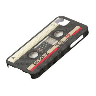 cubierta de la cinta de casete de la escuela vieja funda para iPhone 5 barely there