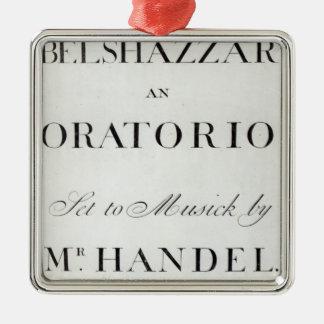 Cubierta de la cuenta para el Belshazzar por Adorno Para Reyes