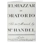 Cubierta de la cuenta para el Belshazzar por Hande Felicitaciones