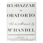 Cubierta de la cuenta para el Belshazzar por Hande Tarjeta Postal