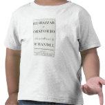 Cubierta de la cuenta para el Belshazzar por Camiseta
