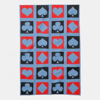 Cubierta de la diversión de tarjetas toallas