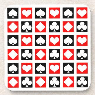 Cubierta de la diversión de tarjetas posavaso