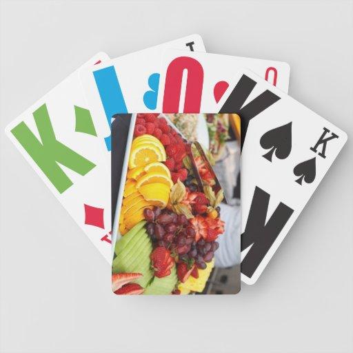 cubierta de la fruta barajas de cartas