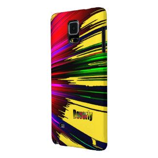Cubierta de la galaxia de Beverly Samsung con Funda Galaxy Note 4