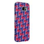 Cubierta de la galaxia de Samsung en teja azul y