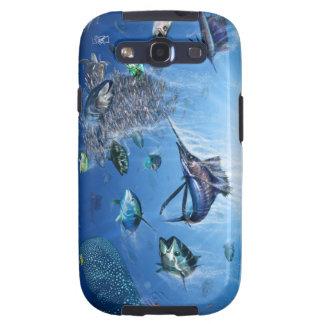 Cubierta de la galaxia SIII del frenesí del pez vo Samsung Galaxy S3 Funda