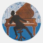 Cubierta de la hoja de la canción del vintage de etiquetas redondas