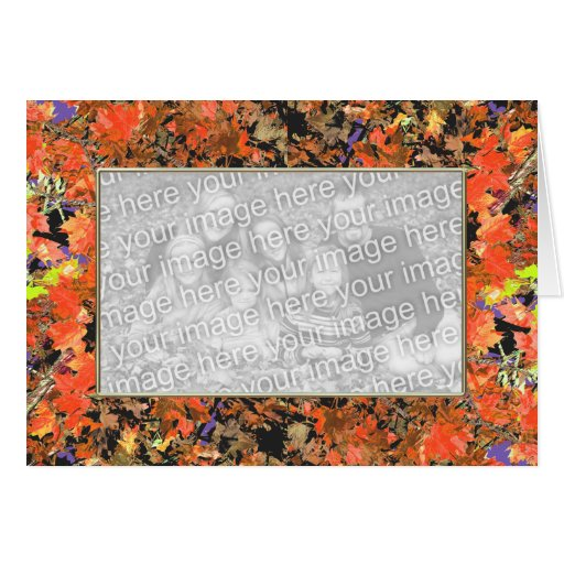 Cubierta de la hoja (marco de la foto) tarjeta de felicitación