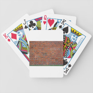 "Cubierta de la ""pared de ladrillo"" de la genealogí baraja cartas de poker"