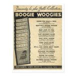 Cubierta de la partitura de Woogie de la boogie Postal