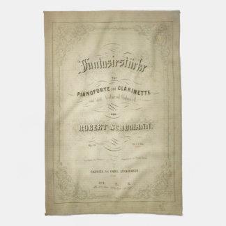 Cubierta de la partitura del vintage de la primera toallas