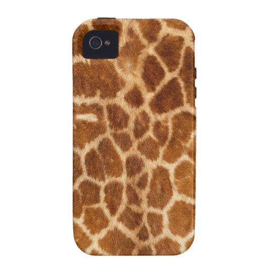 Cubierta de la piel del cuerpo de la jirafa funda para iPhone 4