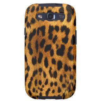 Cubierta de la piel del cuerpo del leopardo galaxy SIII carcasas