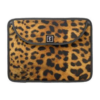 Cubierta de la piel del cuerpo del leopardo funda para macbooks