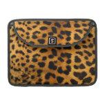 Cubierta de la piel del cuerpo del leopardo funda macbook pro