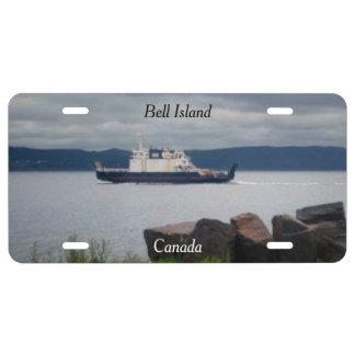Cubierta de la placa de Canadá de la isla de Bell Placa De Matrícula