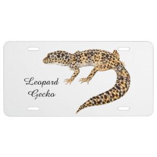 Cubierta de la placa del lagarto del Gecko del Placa De Matrícula