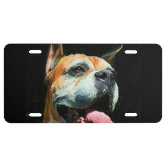 Cubierta de la placa del perro del boxeador placa de matrícula