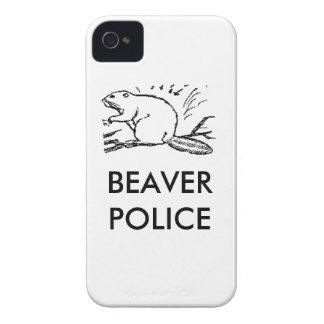 CUBIERTA DE LA POLICÍA IPHONE4 DEL CASTOR Case-Mate iPhone 4 PROTECTOR