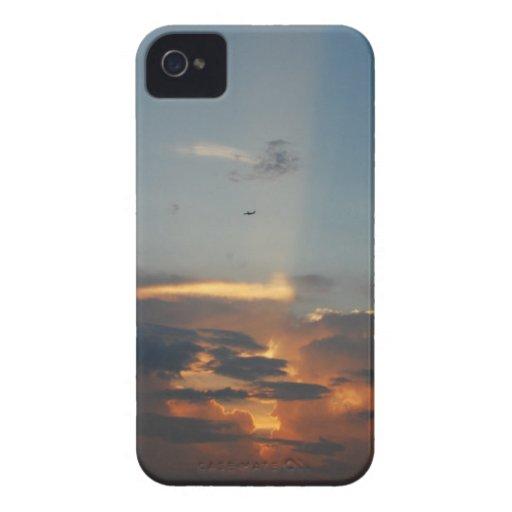 Cubierta de la puesta del sol iPhone 4 protectores