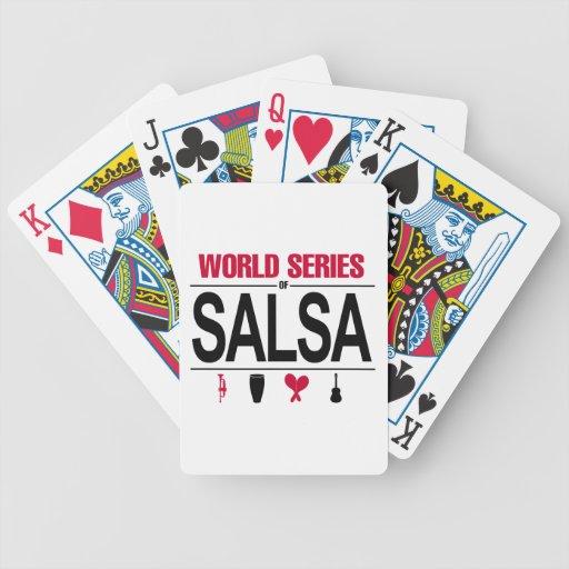 Cubierta de la salsa baraja de cartas