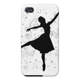 Cubierta de la silueta iPhone4 de la bailarina iPhone 4 Fundas