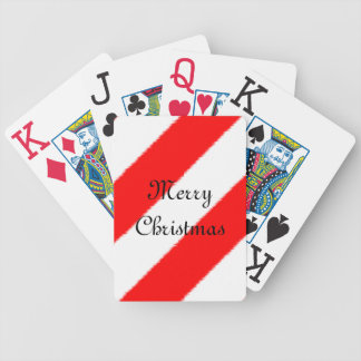 Cubierta de las Felices Navidad Baraja De Cartas