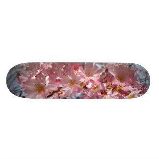 Cubierta de las flores de cerezo tabla de skate